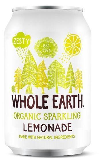 Whole Earth refresco de limón Bio 330ml 6 unidades
