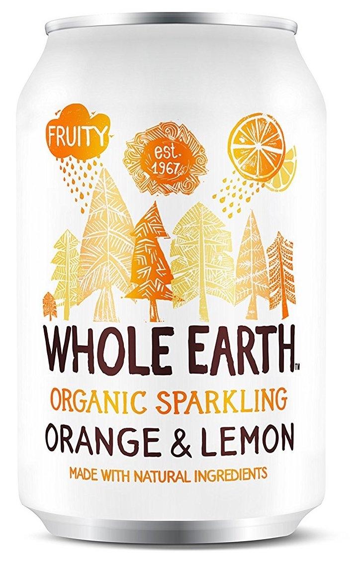 Whole Earth refresco de naranja y limón Bio 330ml 6 unidades