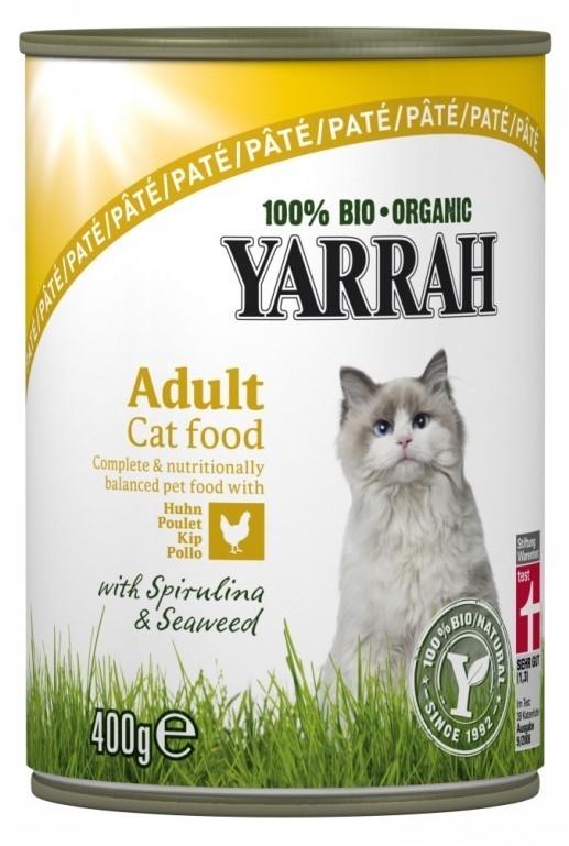 Yarrah Bio Pate de pollo para gatos Bio lata 400gr