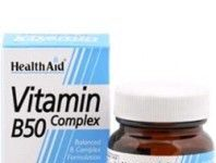 Health Aid complejo vitaminas B50 complex 30 comprimidos